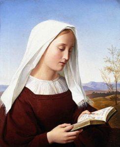 Friedrich Wilhelm Schadow, A girl reading, 1831-1832