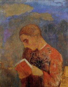 Odilon, Redonalsace or monk reading, 1914