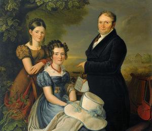 Carl Adolf Mende, Familienportratvonderban,  1824