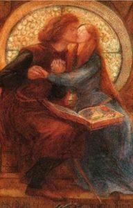 Dante Gabriel Rossetti, Paolo and Francesca da Rimini, 1855