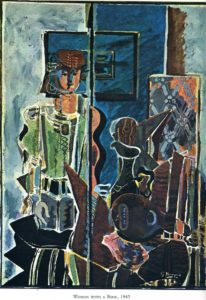 Georges Braque, Woman with book, 1945