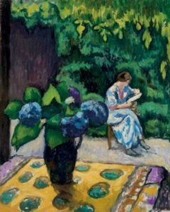 Jean Laurent Challié, La lecture, 1920