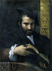 Parmigianino, Portrait of a man with a book, 1524