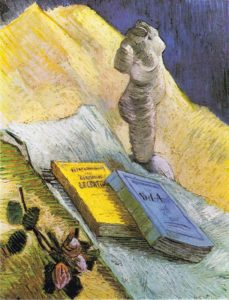 Vincent van Gogh, Plaster Statuette a Rose and Two Novels, 1887