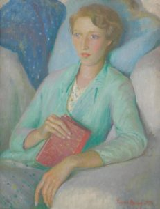 Harold Harvey, Portrait of Stella Mary Burdett, 1935