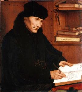 Quinten Massys,Erasmus of Rotterdam, 1517