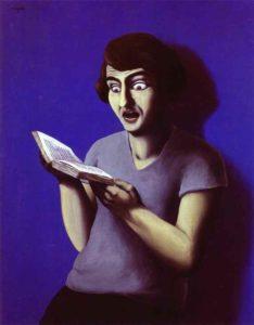 René Magritte, La Lectrice soumise, 1928